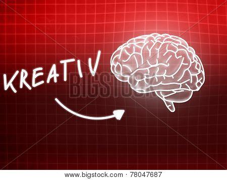Kreativ Brain Background Knowledge Science Blackboard Red