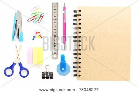 Top View Of Stationery Objects