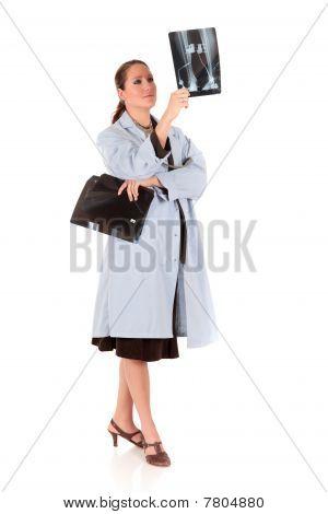 Female Doctor X Ray Photo