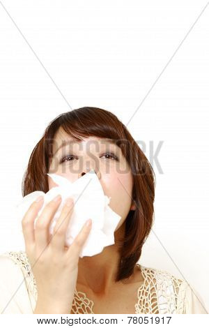 woman with a allergy