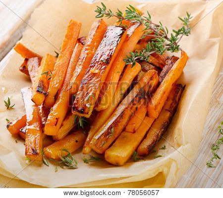 Sweet Potato Fries With  Herbs .