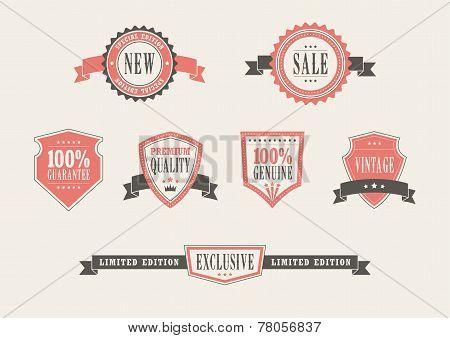 Vintage Retail Badges