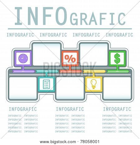Commercial Infografic Background