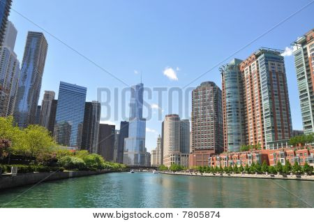 Chicago River in Springtime