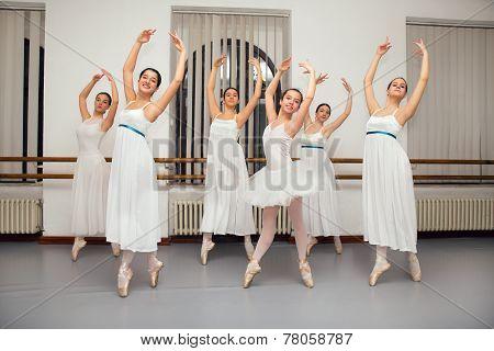 Ballerina Dancers Pose for Recital Photo
