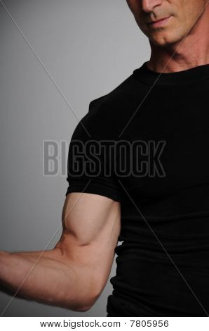 Man Flexing Muscle
