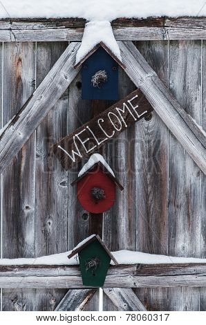 Wintery Welcome Sign