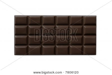 High Quality Dark Chocolate Bar Isolated