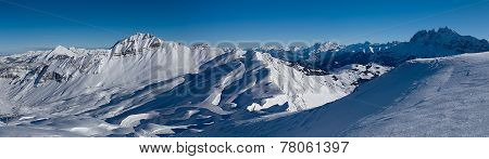 Mountains on the border of France and Switzerland,
