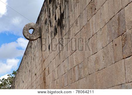 A Mayan Ball field Yucatan Mexico