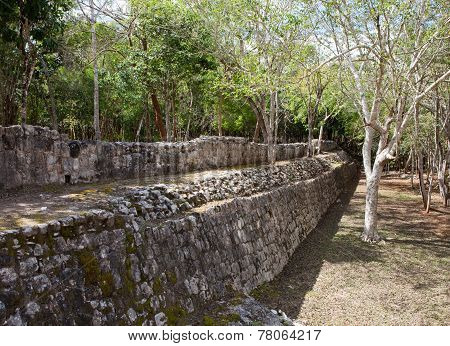 Yucatan Mexico. Sacred cenote at Chichen Itza