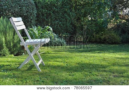 Single Chair On The Grass