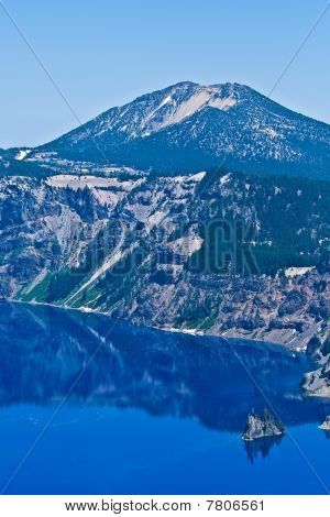 Phantom Ship Island, Crater Lake, Oregon, U.S.A.