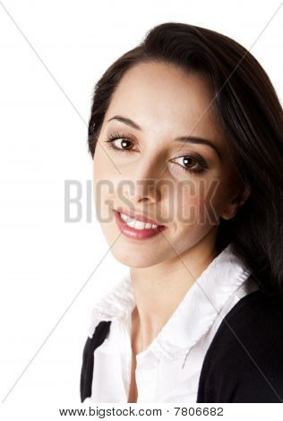 Happy Corporate Business Woman Face