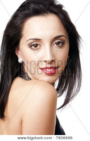 Beauty Face And Shoulder Of Woman