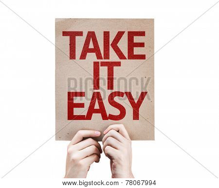 Take It Easy card isolated on white background