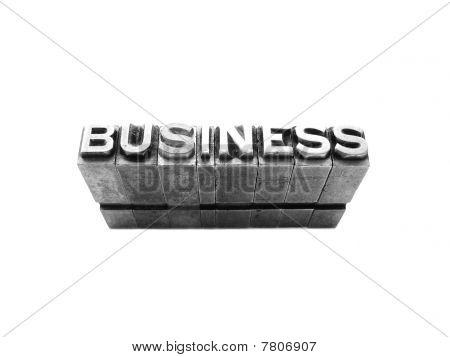 Business  Sign Written In Vintage Letterpress Blocks