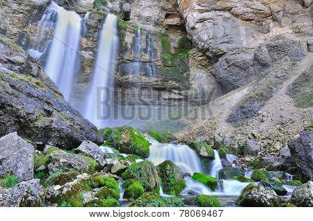 Cascades Over Rocky Walls