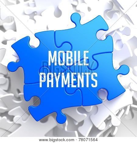 Mobile Payments on Blue Puzzle