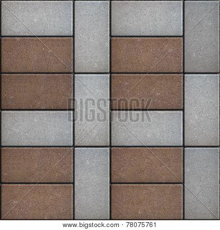 Rectangular Paving Slabs Laid as  Square. Seamless Texture.