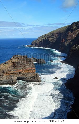Rough and steep coastline