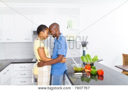 close african couple at home
