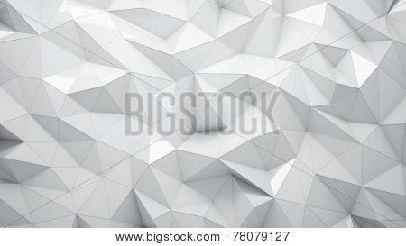White abstract rumpled triangular surface, you can overlay your own image