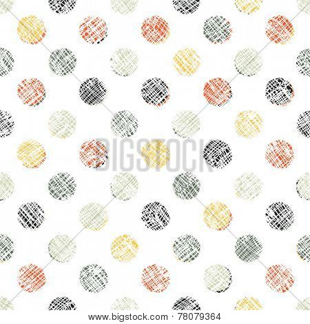 Seamless Polka Dot Pattern Textured