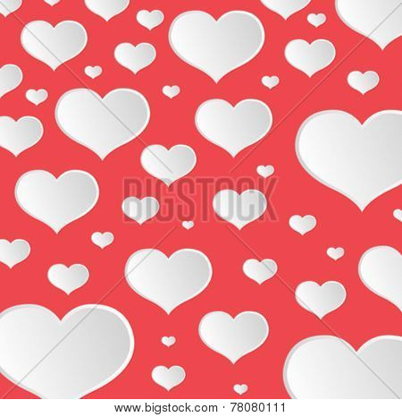 Digitally generated Valentines day vector with heart pattern