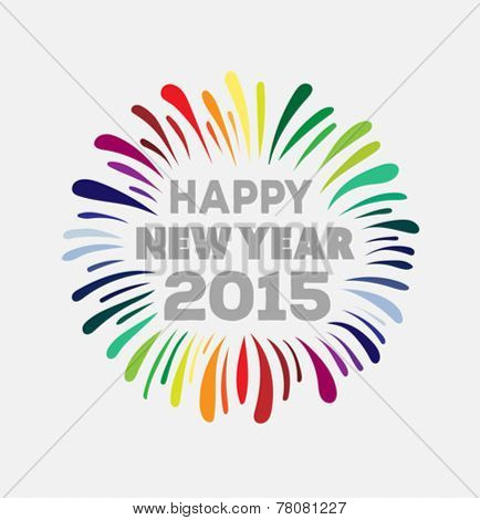Digitally generated Happy new year 2015 vector