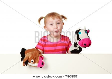 Little Girl Playing Theater