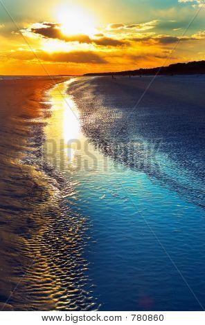 Atardecer en la playa de Hilton Head