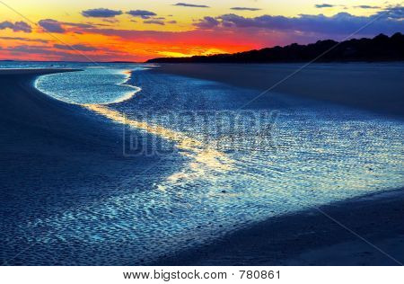Dusk on Hilton Head beach
