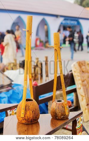Handmade Monochord , Indian Handicrafts Fair At Kolkata