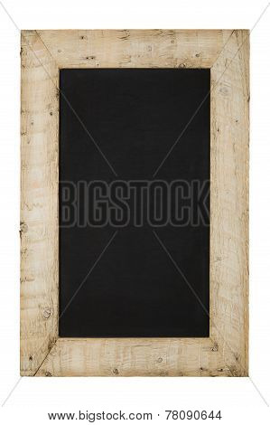 Vintage Chalkboard Reclaimed Wood Frame Isolated On White