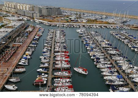 Aerial view of Herzliya Marina