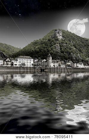 Full Moon Along The Rhine