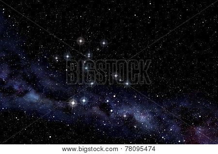 Cerntaurus Constellation In Starry Night