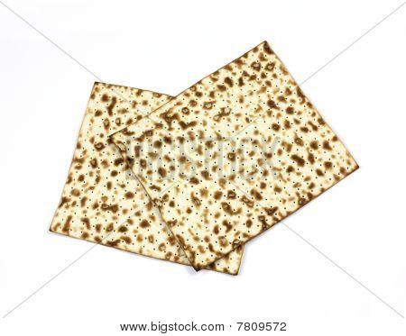 Overhead View Matzo Crackers