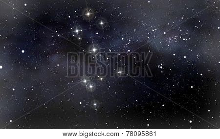 Constellations Of The Southern Cross And Moscow In Deep Space