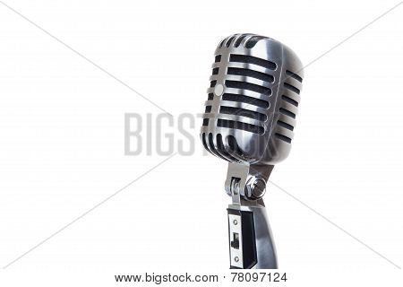 Vintage Microphone Isolated On White