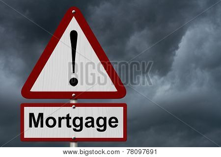 Mortgage Caution Sign