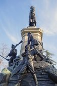stock photo of hitler  - Monument to war of 1854 in Sevastopol a monument to general Totleben - JPG