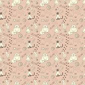 ������, ������: seamless pattern with cats
