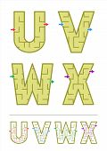 picture of letter x  - Easy alphabet maze games for kids  - JPG