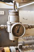 image of pressure vessel  - Pressure gauge for measuring pressure in the system - JPG