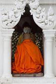 pic of yangon  - A Buddhist monk prays at Shwedagon Pagoda in Yangon Myanmar - JPG