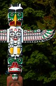 stock photo of indian totem pole  - Totem Pole - JPG