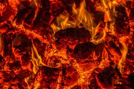 stock photo of tetrahedron  - Images taken by a large warm bonfire made out of wood pallet at a fire festival in Chester County PA - JPG
