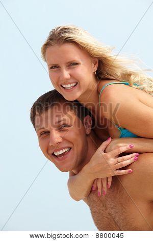Casal em férias